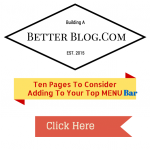 Ten Pages To Consider Adding To Your Top Menu Bar