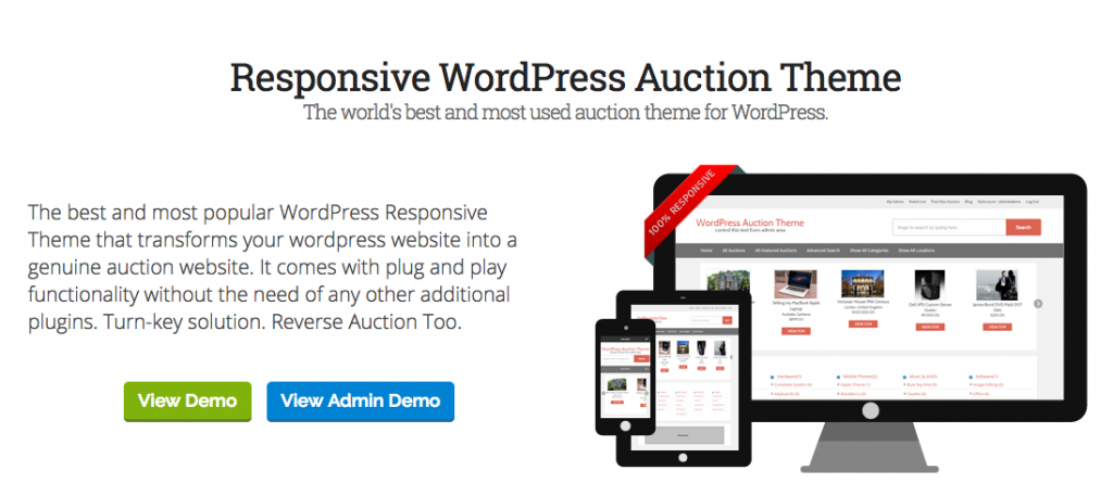 Wordpress Auction Theme