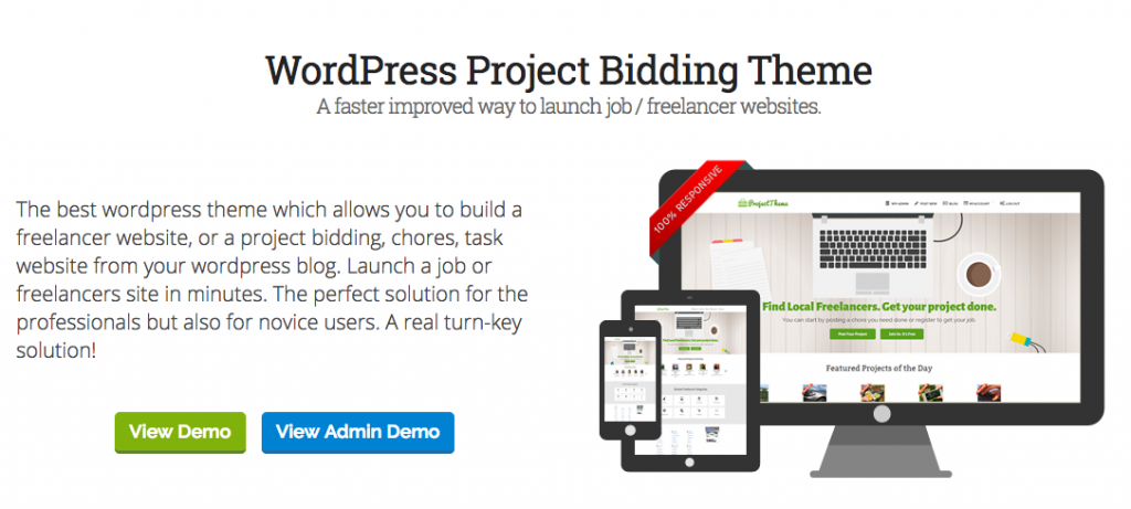 Wordpress Project Bidding Theme