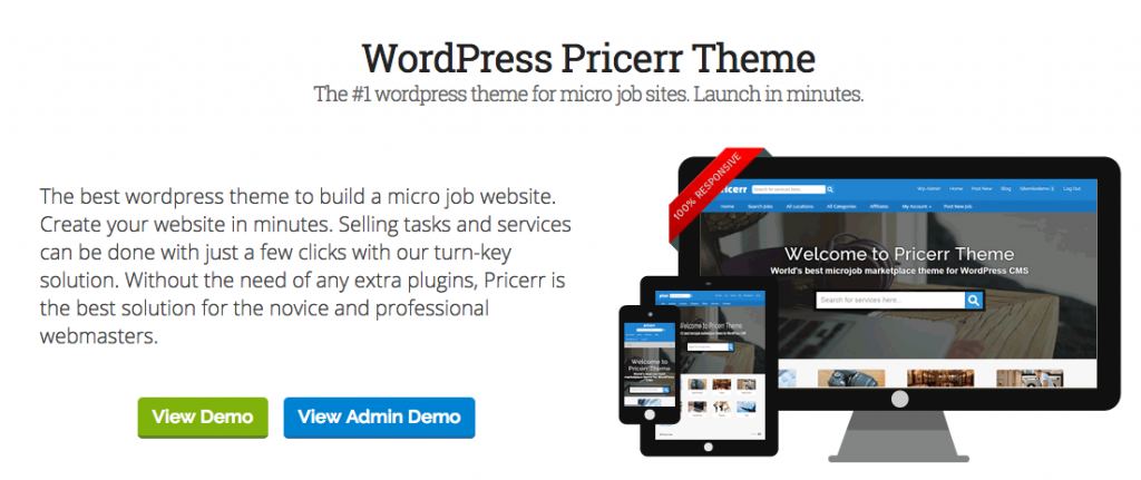 Fiverr WordPress Theme