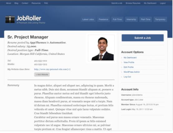 Wordpress job listings theme