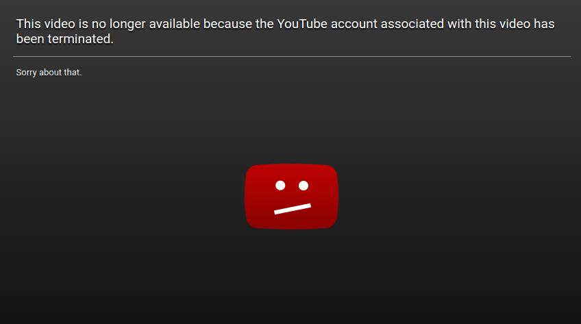 You Tube Account Terminated