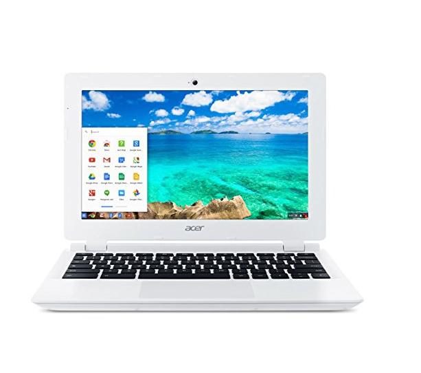 White Acer Chromebook