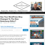 Has Your Wordpress Blog Changed To The New Gutenberg Editor?